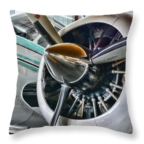 Plane First Class Throw Pillow by Paul Ward