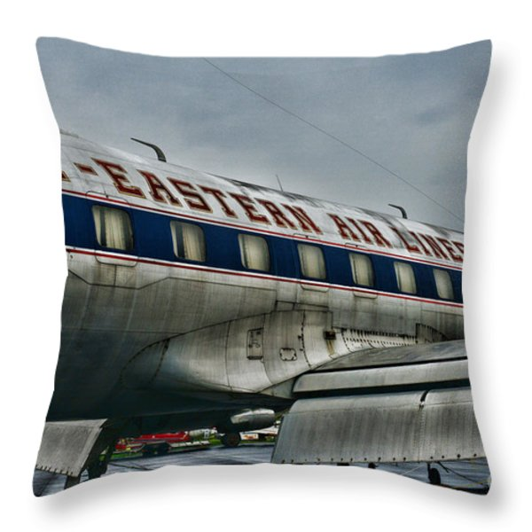 Plane Fly Eastern Air Lines Throw Pillow by Paul Ward