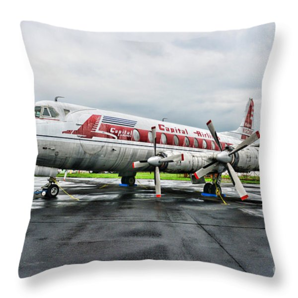 Plane Props on Capital Airlines Throw Pillow by Paul Ward