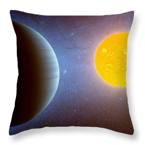 Planet Kepler10 Stellar Family Portrait Throw Pillow by Movie Poster Prints