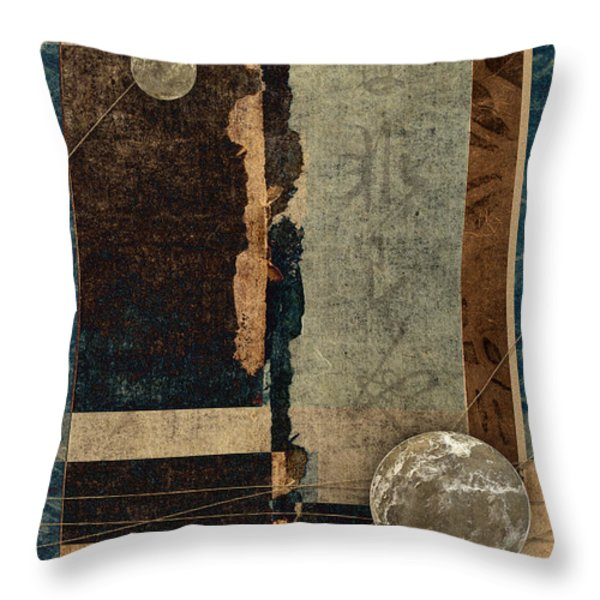 Planetary Shift #1 Throw Pillow by Carol Leigh