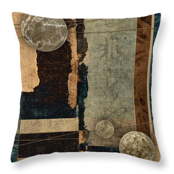 Planetary Shift #2 Throw Pillow by Carol Leigh