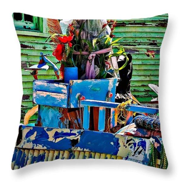 Plastic Jesus Throw Pillow by Steve Harrington