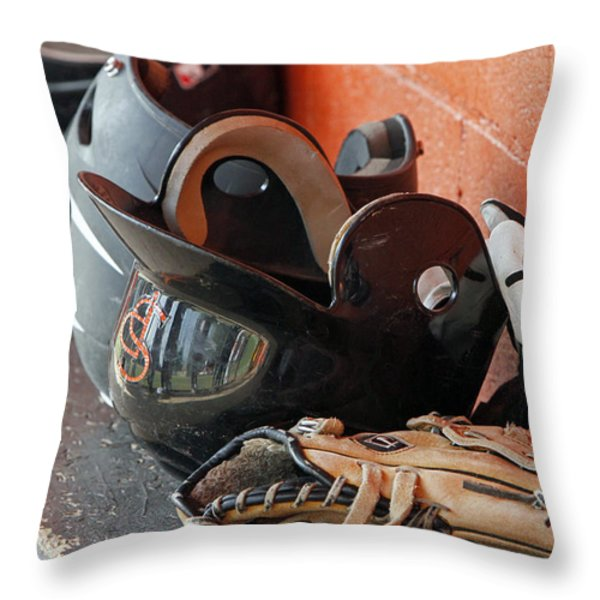 Play Ball Throw Pillow by Shoal Hollingsworth