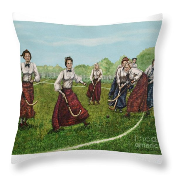 Play Of Yesterday Throw Pillow by Linda Simon