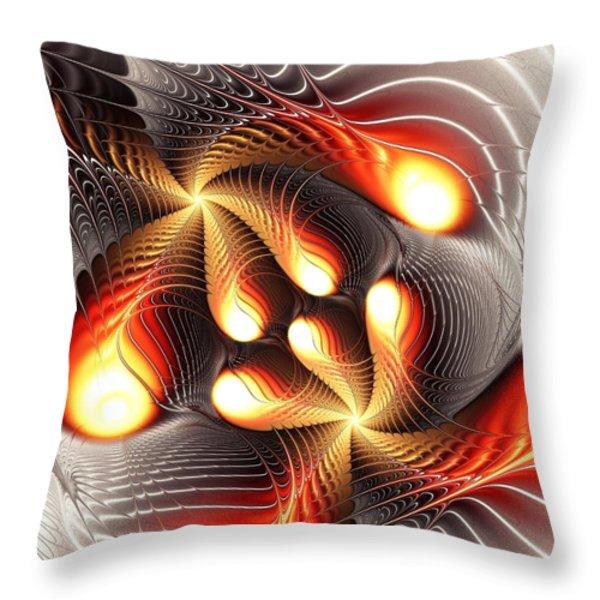 Playing Dragons Throw Pillow by Anastasiya Malakhova