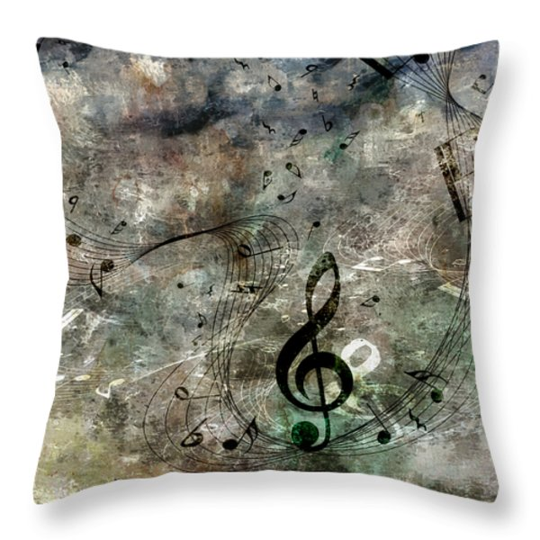 Playing Your Song Throw Pillow by Angelina Vick