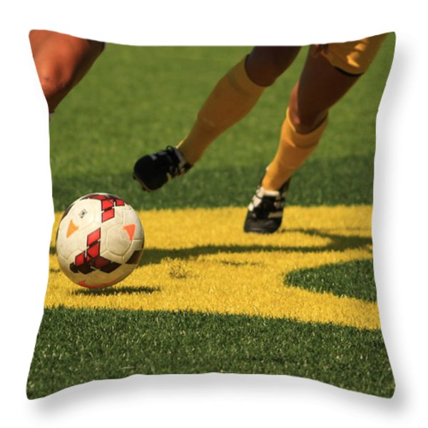 Plays on the Ball Throw Pillow by Laddie Halupa