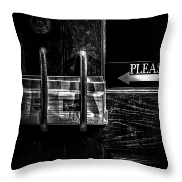 Please Throw Pillow by Bob Orsillo