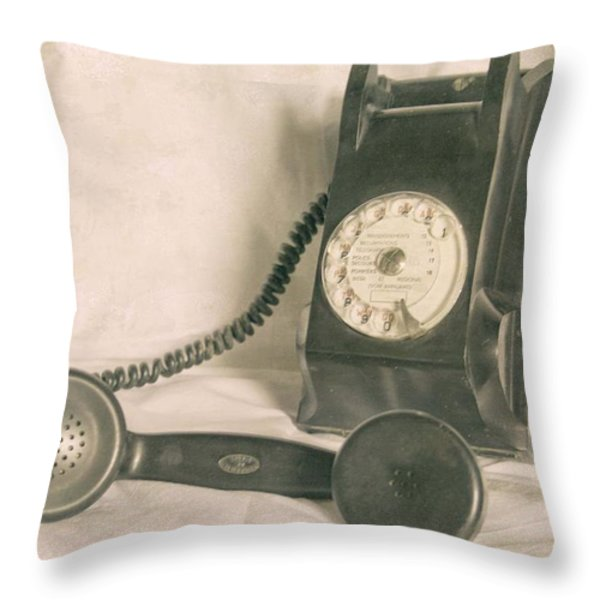 Please Call Throw Pillow by Nomad Art And  Design