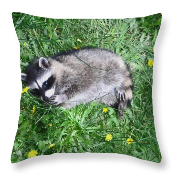 Please Dont Eat The Daisy Throw Pillow by Kym Backland