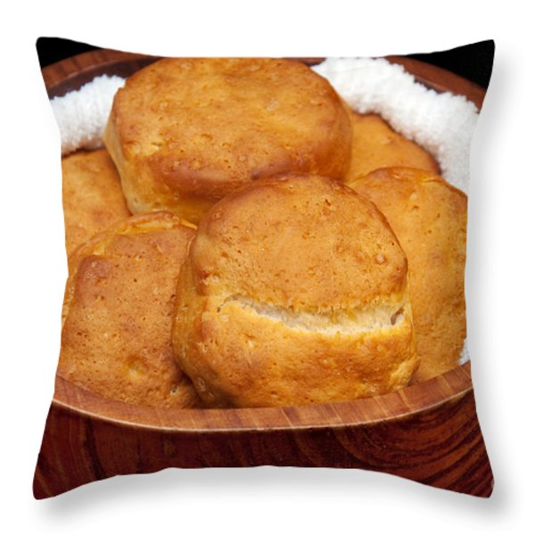 Please Pass The Biscuits Throw Pillow by Andee Design