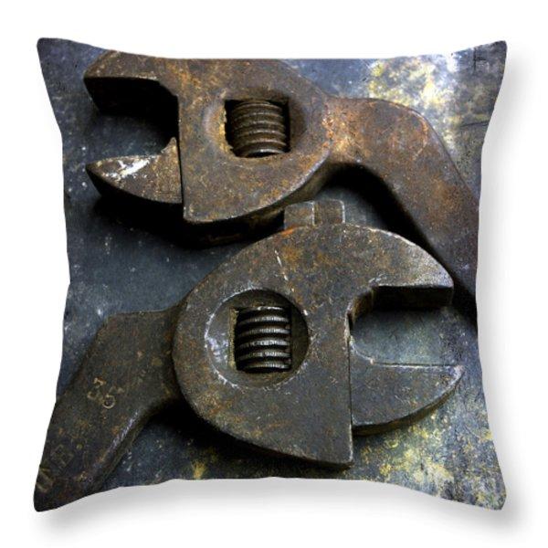 Pliers Throw Pillow by Bernard Jaubert