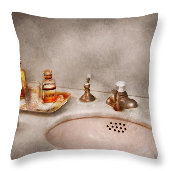 Plumber - First Thing In The Morning Throw Pillow by Mike Savad