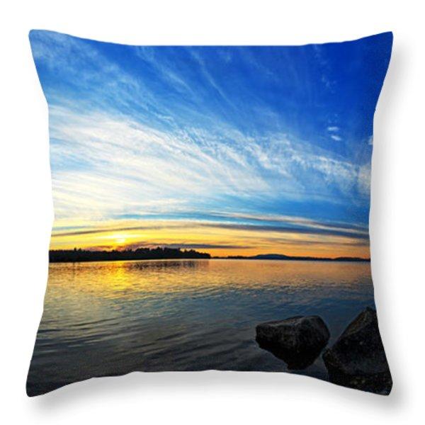 Pocomoonshine Sunset 1 Panorama Throw Pillow by Bill Caldwell -        ABeautifulSky Photography