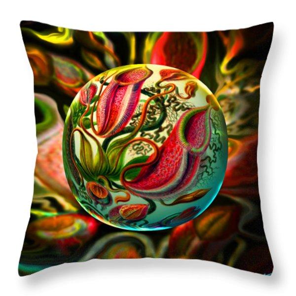 Pods Der Natur  Throw Pillow by Robin Moline