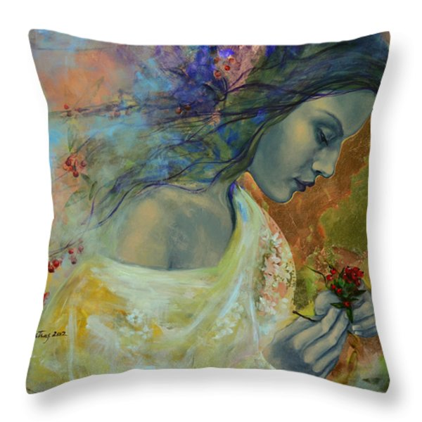 Poem at Twilight Throw Pillow by Dorina  Costras