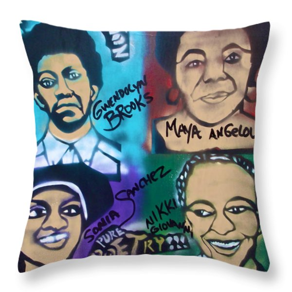 Poetry in Motion Throw Pillow by TONY B CONSCIOUS