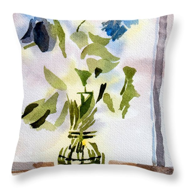 Poetry in the Window Throw Pillow by Kip DeVore