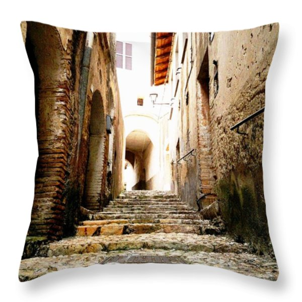 Poggio Catino Italy Throw Pillow by Giuseppe Epifani