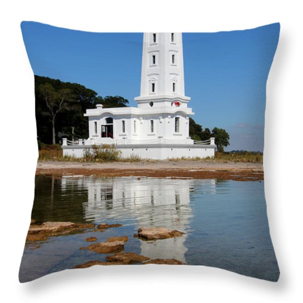 Point Abino Reflections Throw Pillow by Darleen Stry