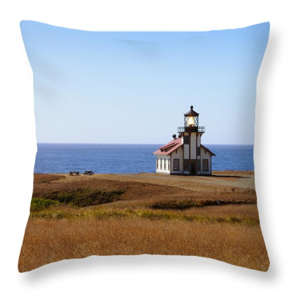 Point Cabrillo Light House Throw Pillow by Abram House