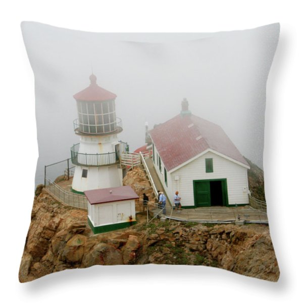 Point Reyes Lighthouse Throw Pillow by Art Block Collections