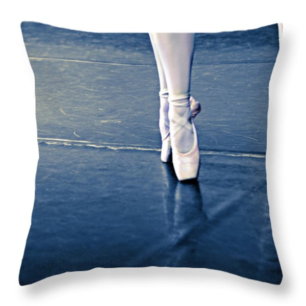 Pointe Throw Pillow by Laura Fasulo