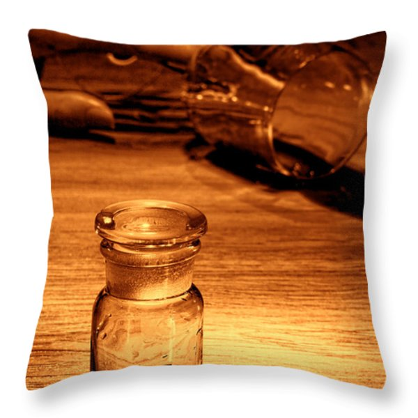 Poisoning Throw Pillow by Olivier Le Queinec