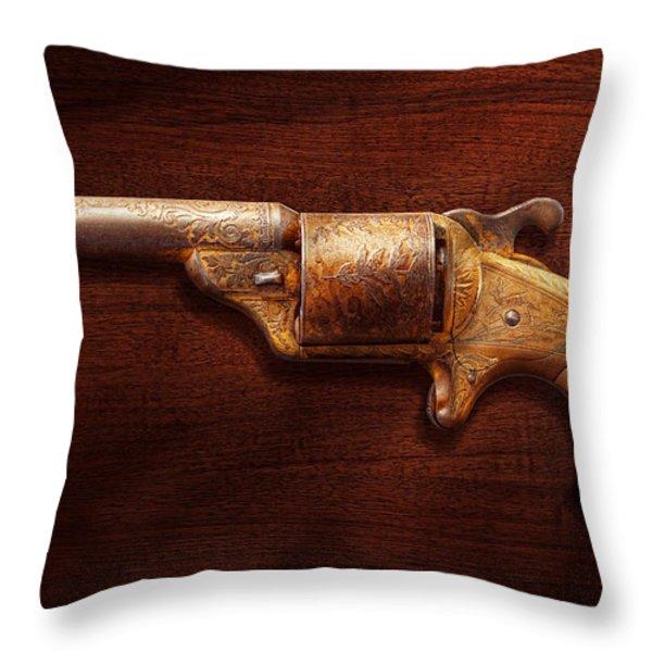 Police - Gun - Mr Fancy Pants Throw Pillow by Mike Savad