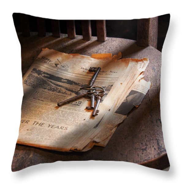 Police - The wardens keys Throw Pillow by Mike Savad