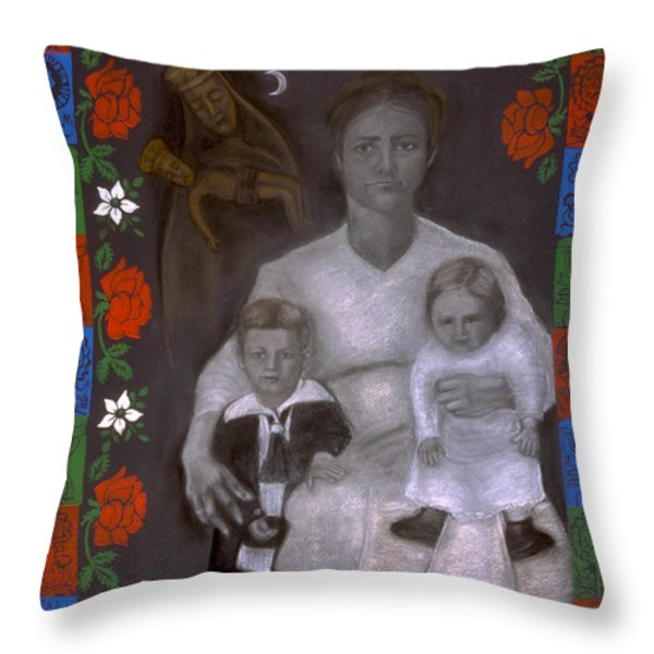 Polish Grandmother Throw Pillow by Diana Perfect