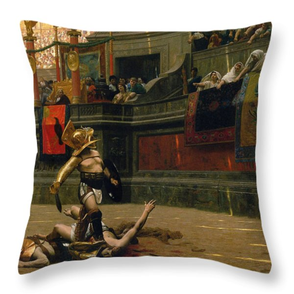 Pollice Verso Throw Pillow by War Is Hell Store