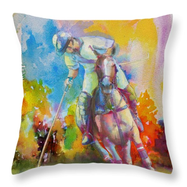 Polo Art Throw Pillow by Catf