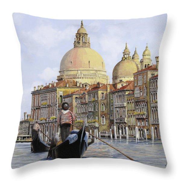 Pomeriggio A Venezia Throw Pillow by Guido Borelli