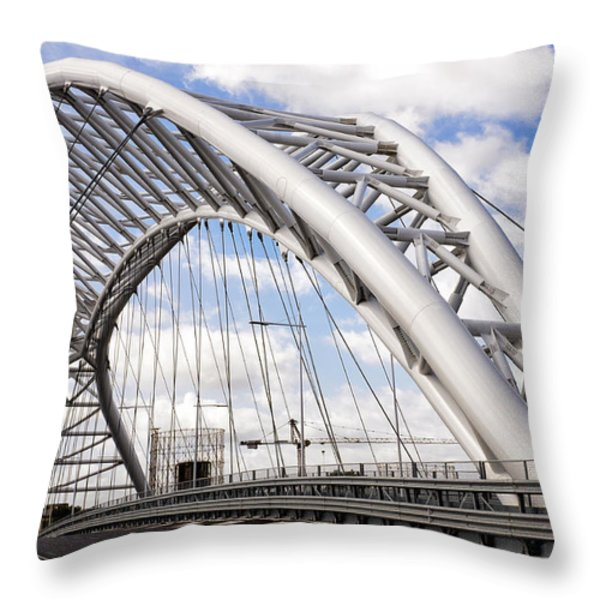 Ponte Settimia Spizzichino Throw Pillow by Fabrizio Troiani