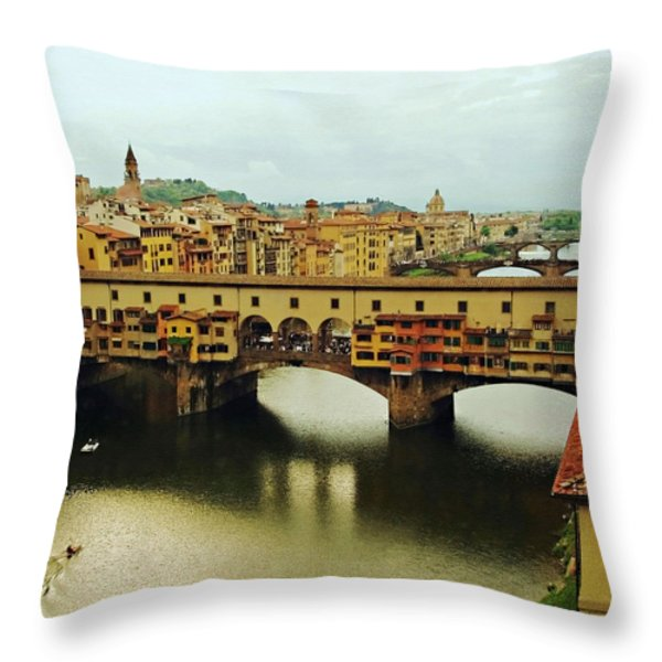 Ponte Vecchio 2 Throw Pillow by Ellen Henneke