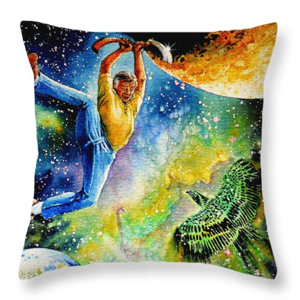 Pooka Hill 6 Throw Pillow by Hanne Lore Koehler