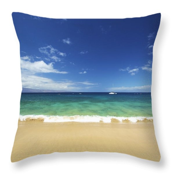 Poolenalena Beach Park Throw Pillow by Kicka Witte