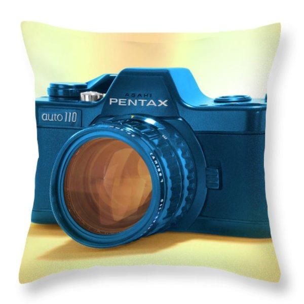 Pop Art 110 Pentax Throw Pillow by Mike McGlothlen