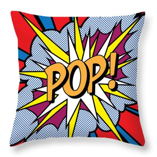 POP Art Throw Pillow by Gary Grayson