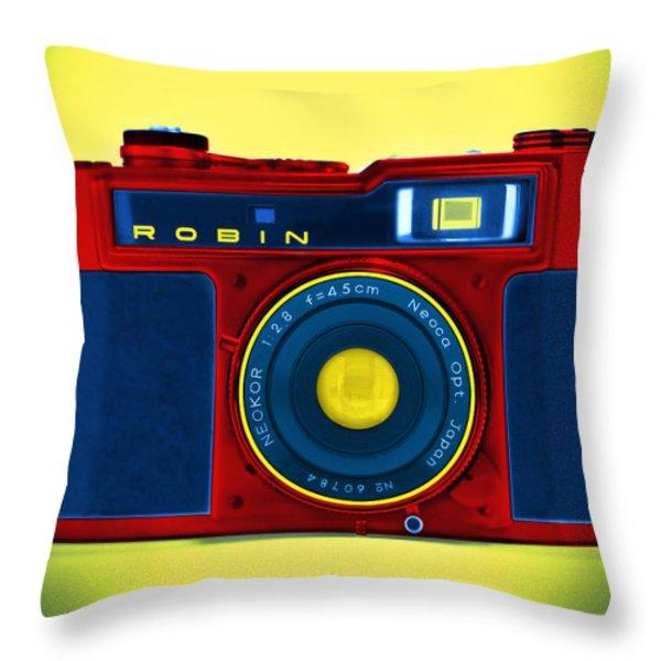 PoP aRt RoBiN Throw Pillow by Mike McGlothlen