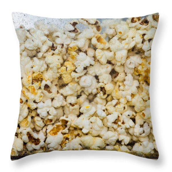 Popcorn 2 - Featured 3 Throw Pillow by Alexander Senin