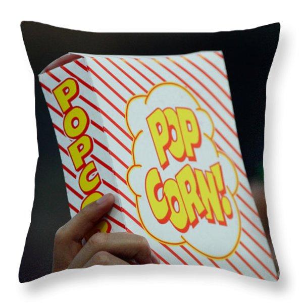 Popcorn Throw Pillow by Alan Look