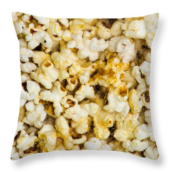 Popcorn - Featured 3 Throw Pillow by Alexander Senin