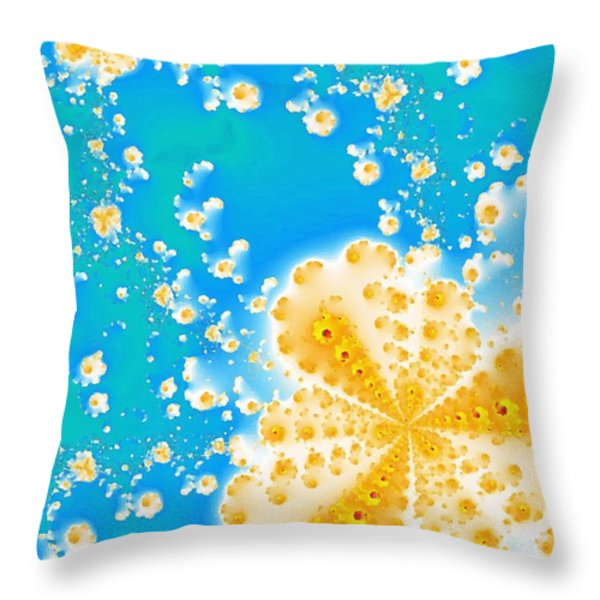 Popcorn Galaxy Throw Pillow by Anastasiya Malakhova