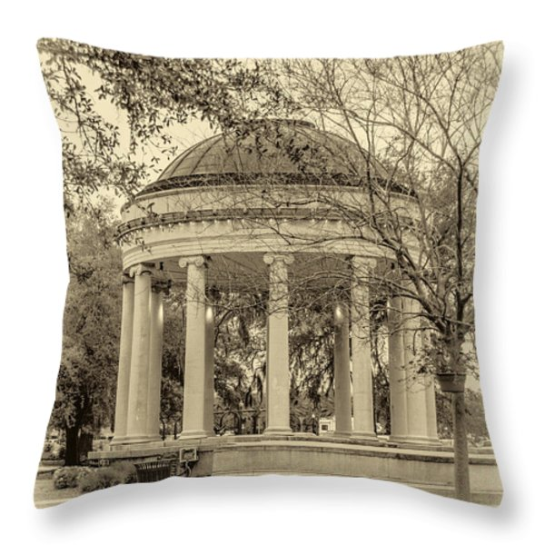 Popp Bandstand sepia Throw Pillow by Steve Harrington