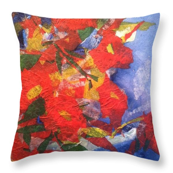 Poppies Gone Wild Throw Pillow by Sherry Harradence
