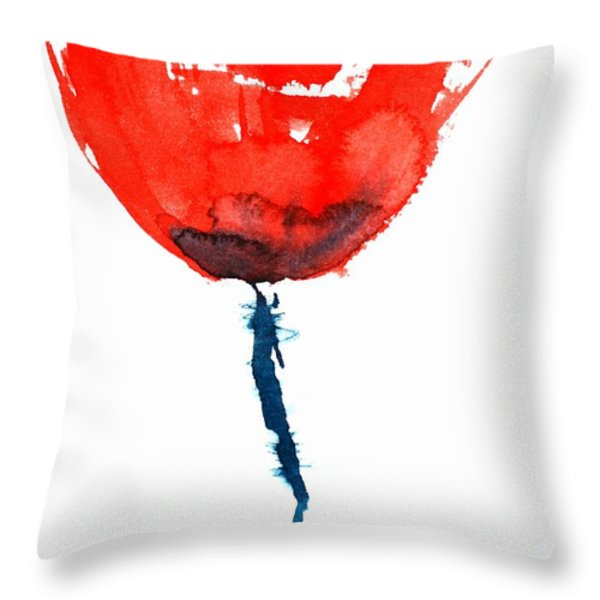 Poppy Throw Pillow by Zaira Dzhaubaeva