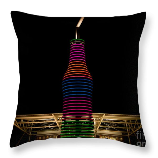 Pop's On Route 66 Throw Pillow by Robert Frederick